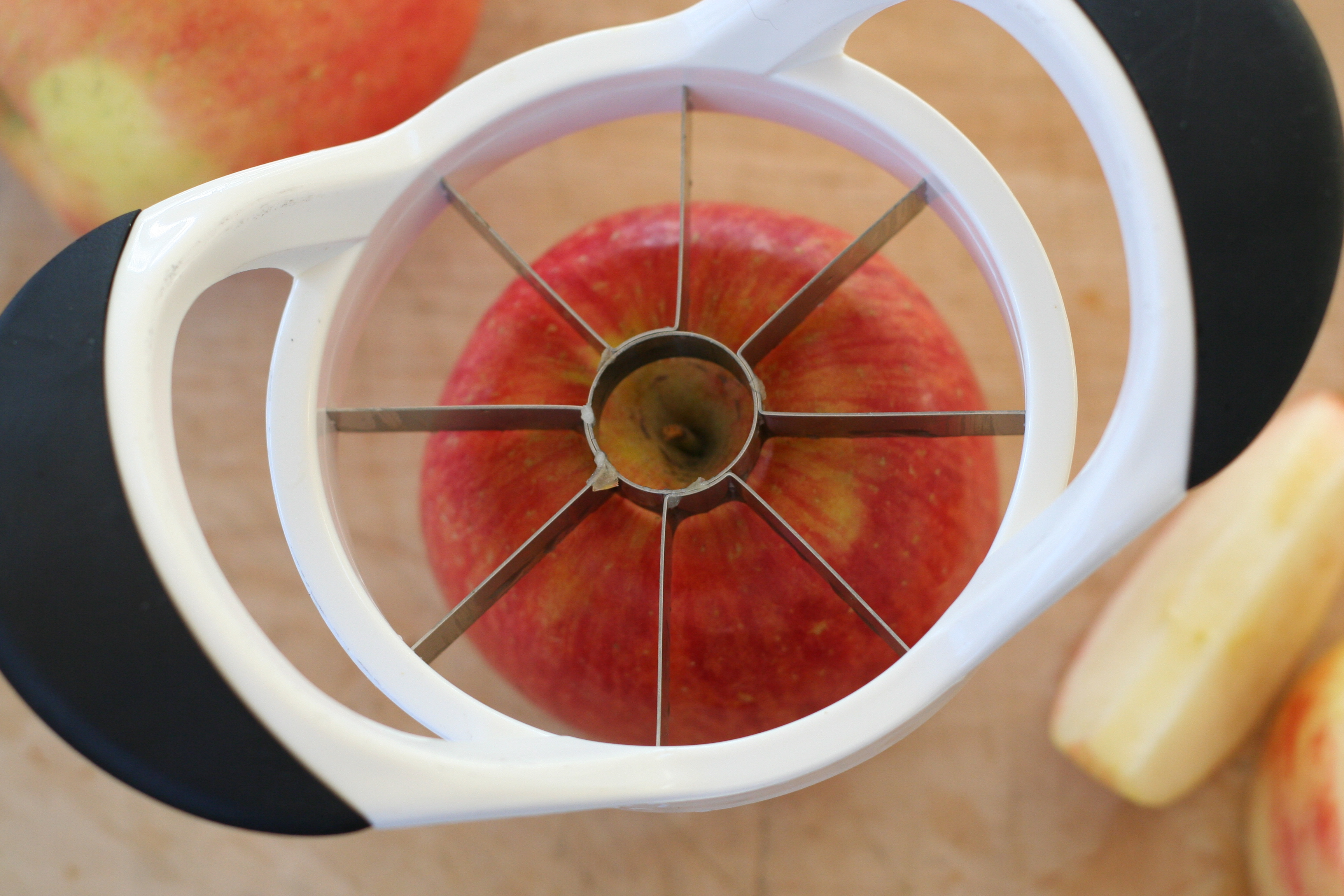 Cutting Apple with Slicer/Corer