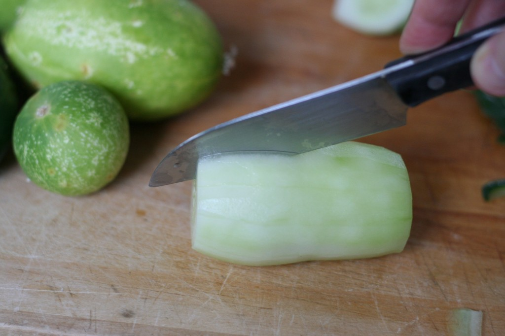 Cutting a Cucumber End to End