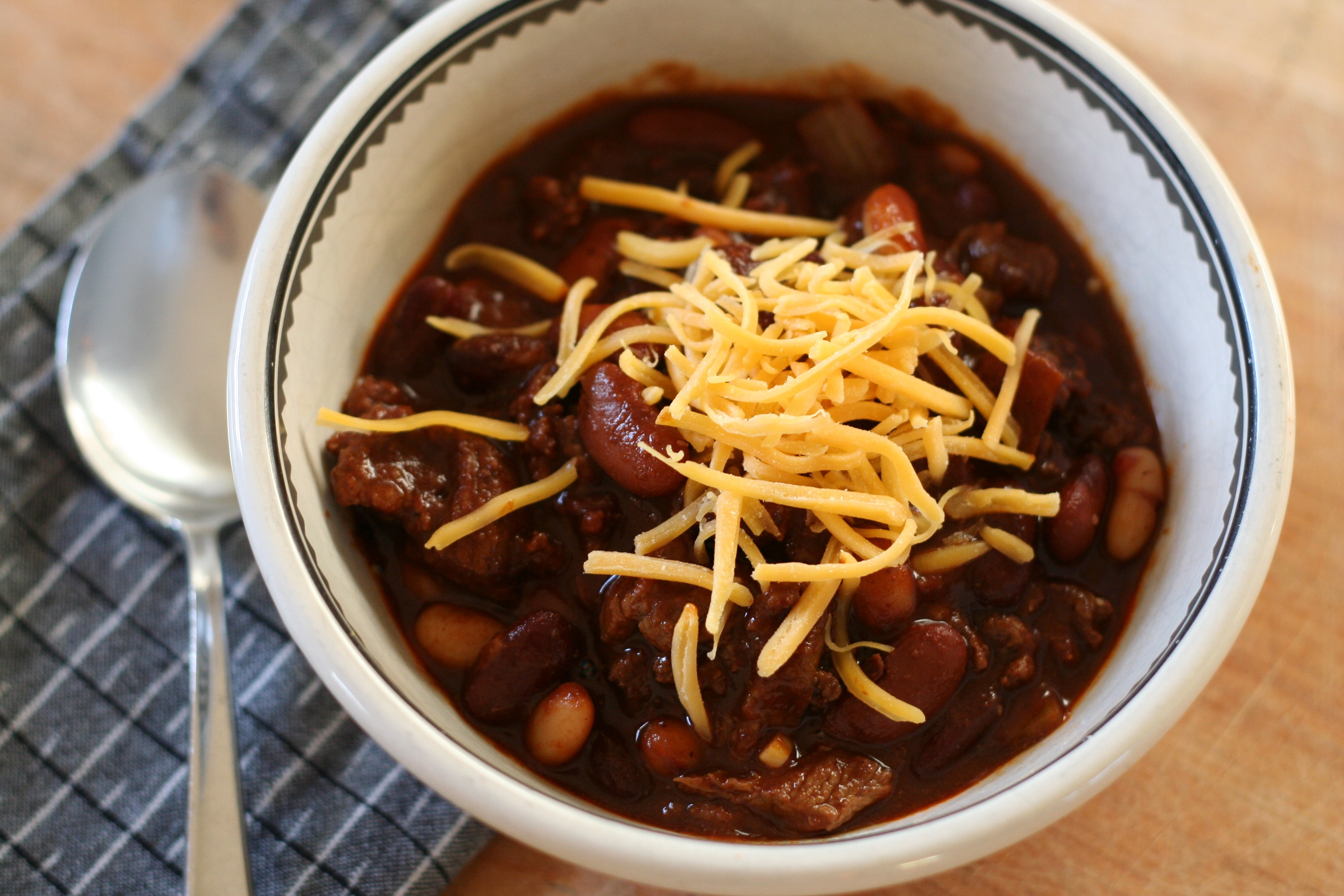 Boy Scout Chili w/ Cheese